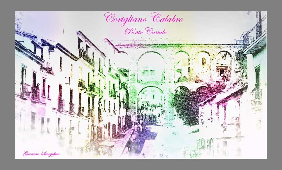 Ponte Canale della mia Città di Corigliano Calabro
