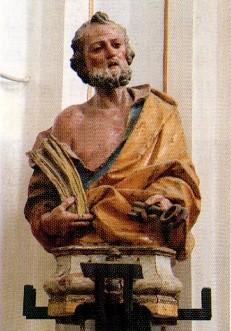 Un busto ligneo: San Pietro