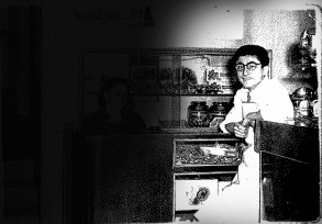 Fine anni '50 al Bar Gatto Bianco Rocco, Marinaro, noto come Rocco 'i Vaiss