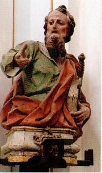 Un busto ligneo: San Paolo