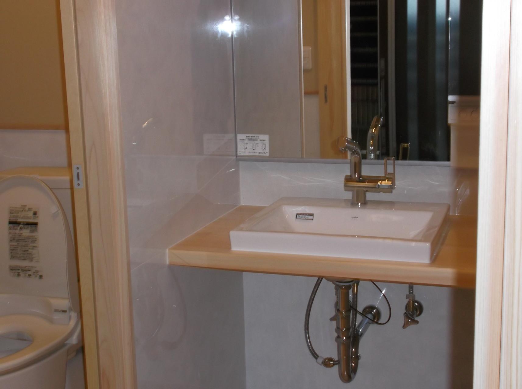 和と洋の織り成す洗面化粧台