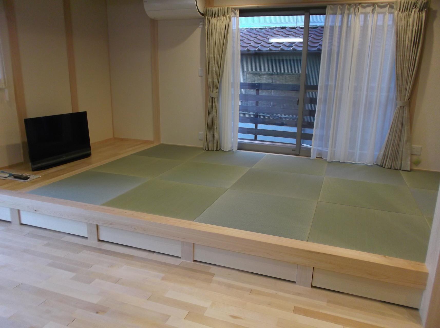 リビングのくつろぎ空間 和室 琉球畳仕様