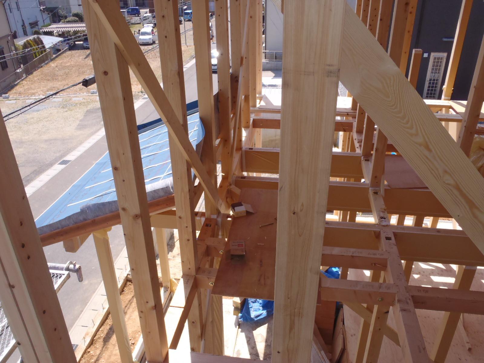 2階の建て方状況