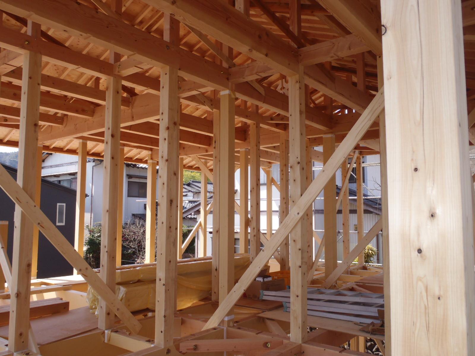 1階の建て方状況