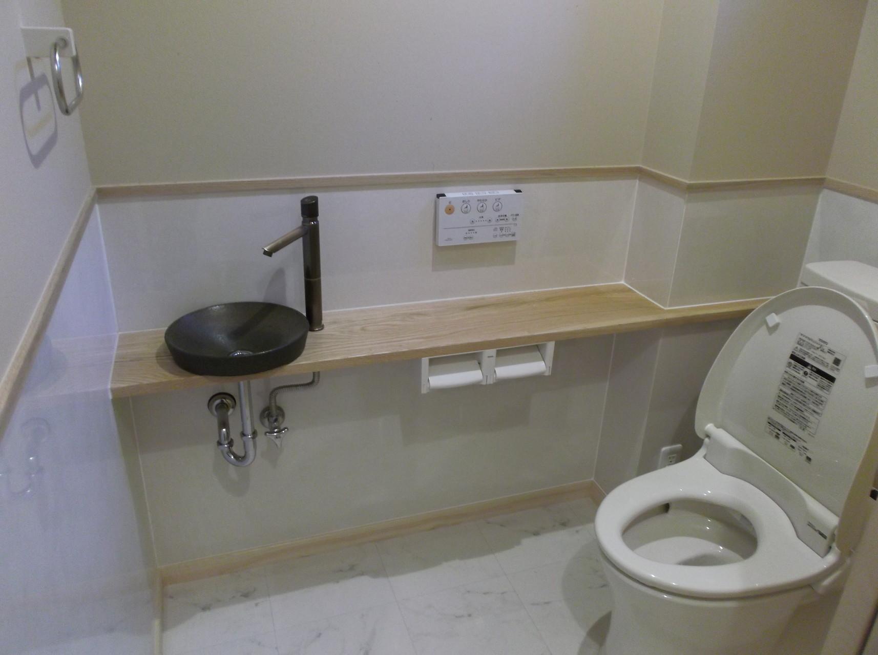 和テイストな落ち着きあるトイレ