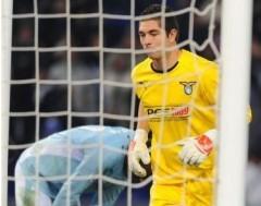 Torwarttrikot Auswärts. Sondersponsor PES 2009 im Spiel gegen Inter.