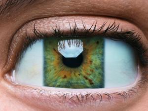 Eckige Augen