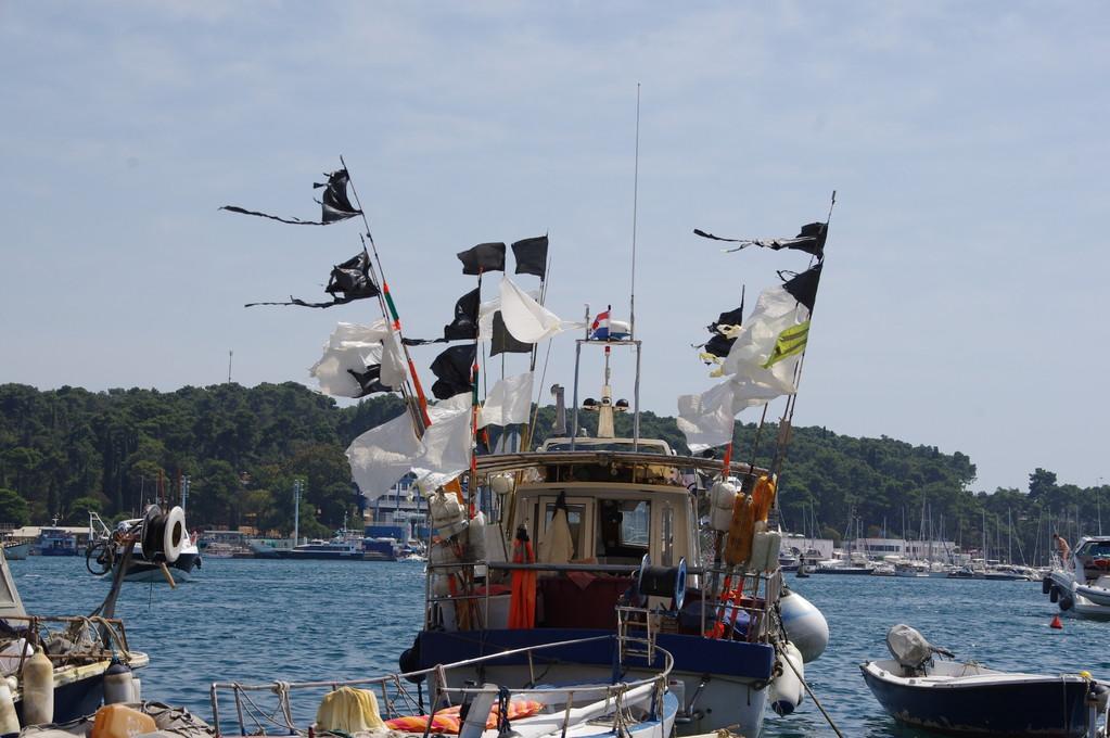 Rovinj: bateau de pêcheurs