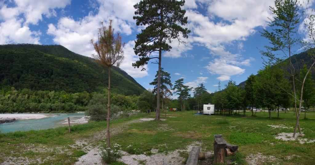 Le camping prés de Tolmin