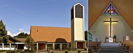 Christuskirche und Gemeindehaus in Murg
