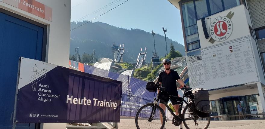 Training in Oberstdorf- bin da