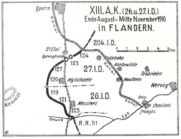 Kampf um Hill 62 vom XIII.A.K. Bayernwald