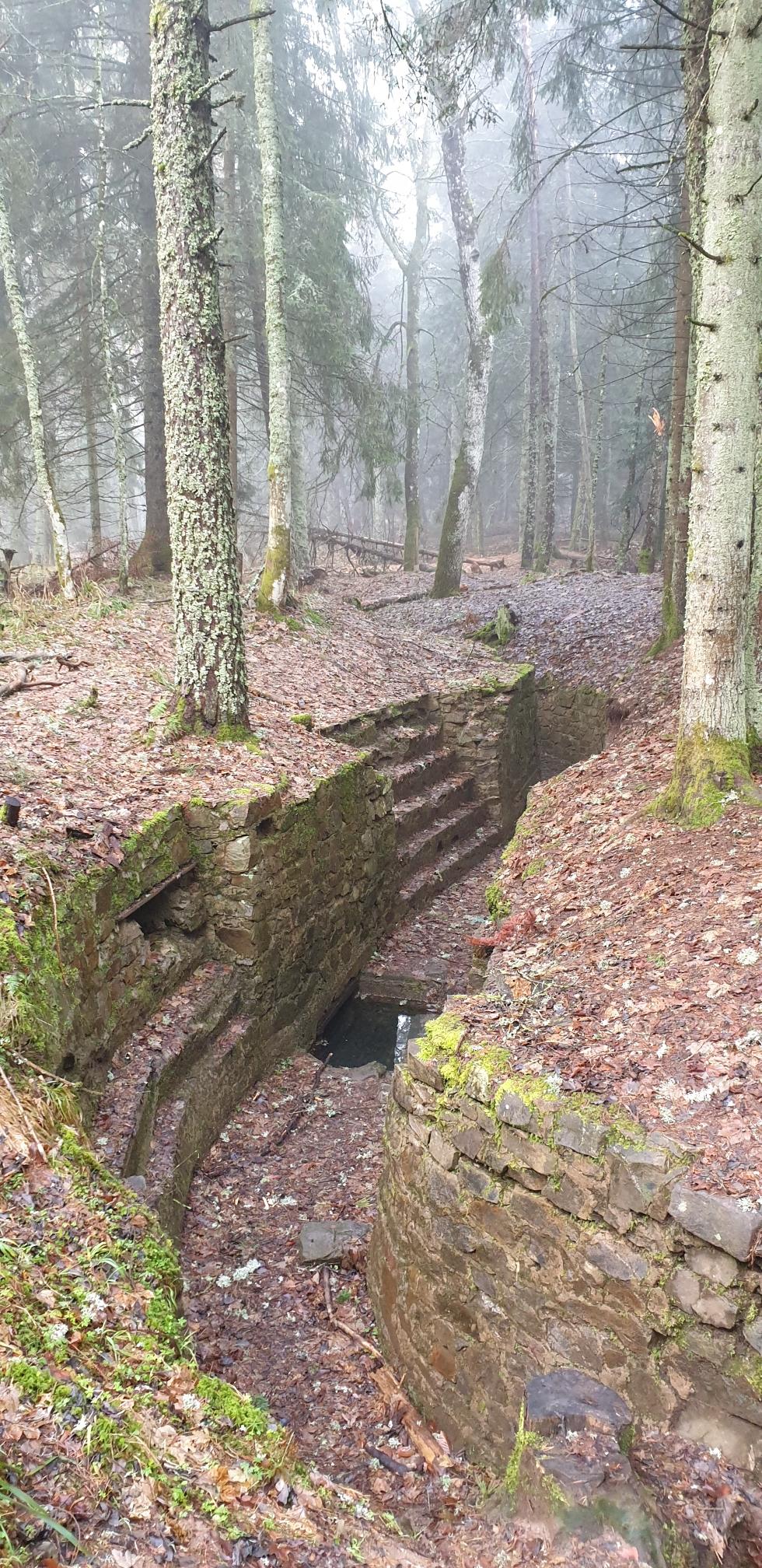 Unterirdische Anlagen, mit Wasser vollgelaufen