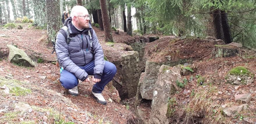 Schützengraben am Schratzmaennele