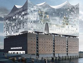 ORNITEC: Effektive Vogelabwehr an der Elbphilharmonie in Hamburg.