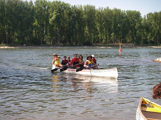Mit dem 6er auf dem Rhein