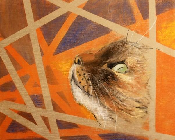 """""""Die Augen von Katzen""""; Kreide auf Spezialpapier; 40 x 50 cm"""