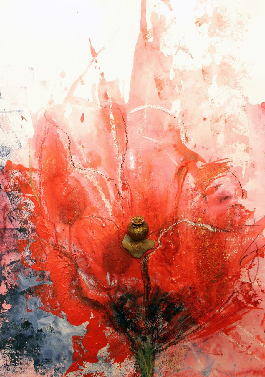 Geschichte der Mohnblüte, Acryl