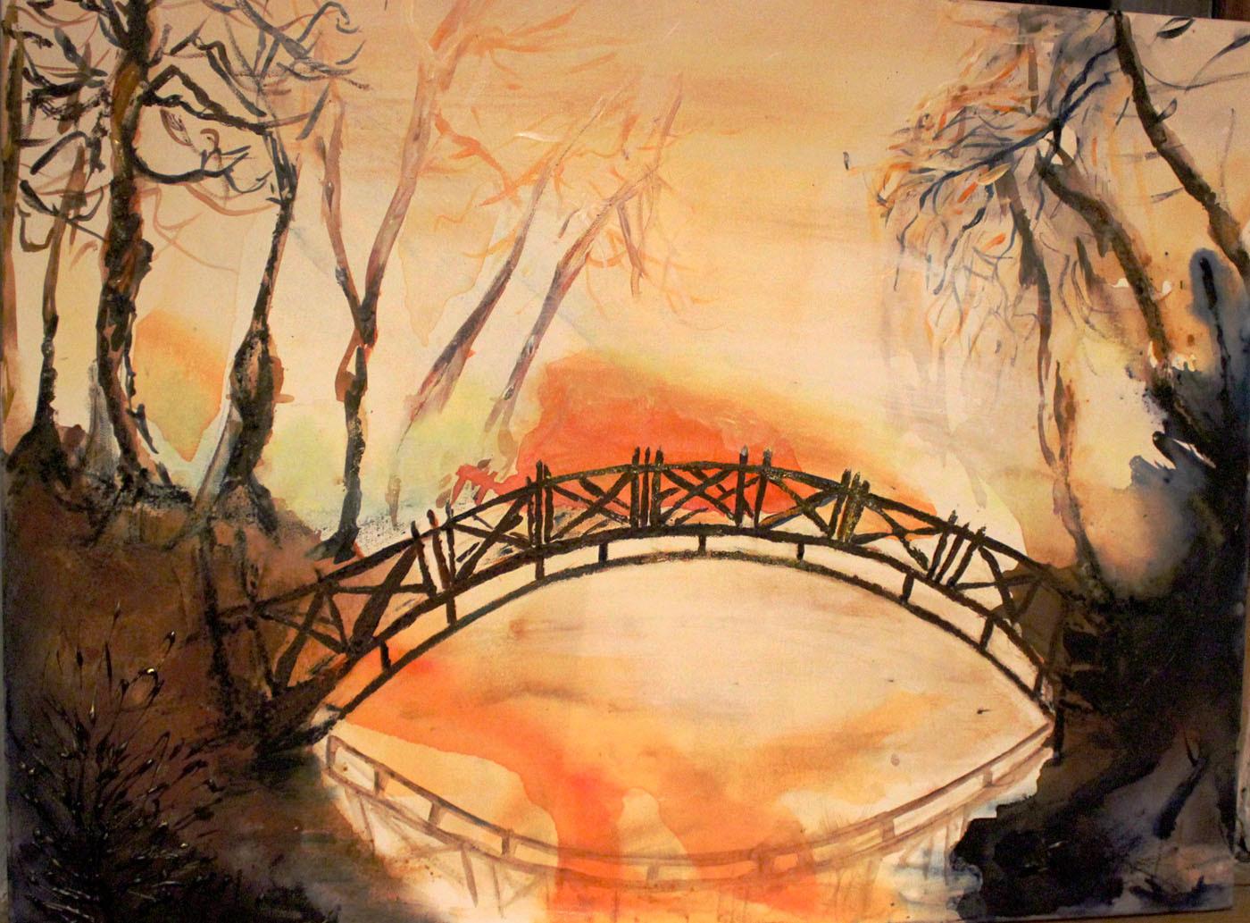 Die letzte Brücke, Acryl auf Keilrahmen
