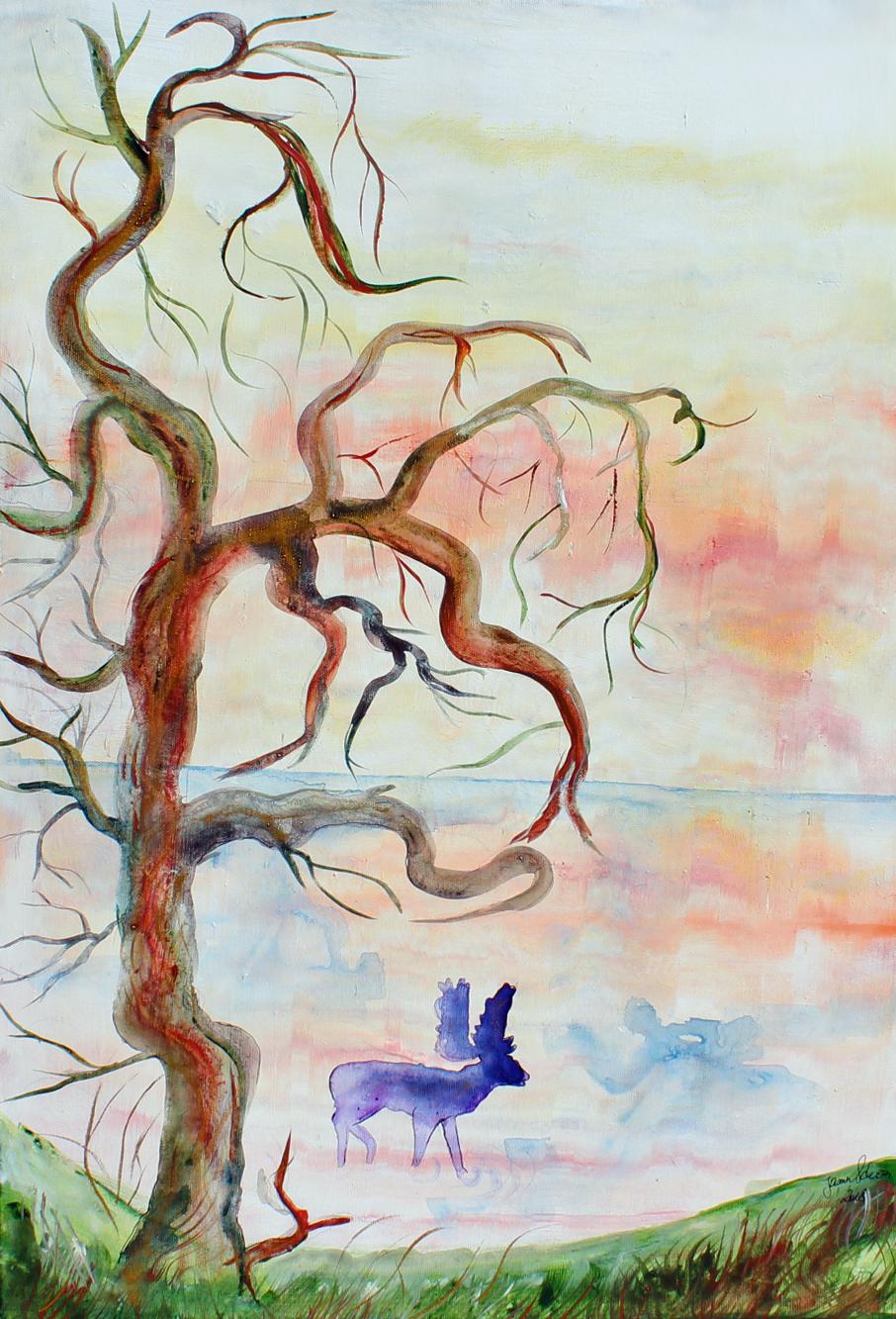 Der Morgenspaziergang 2, Acryl auf Leinwand, 70 x 50 cm