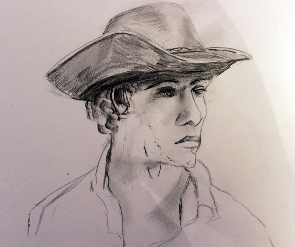 Cowboy, Bleistift & Kohle