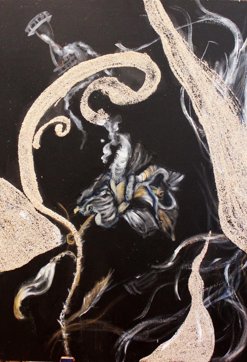 """""""Abschied""""; Acryl auf MDF-Platte; 70 x 50 cm"""