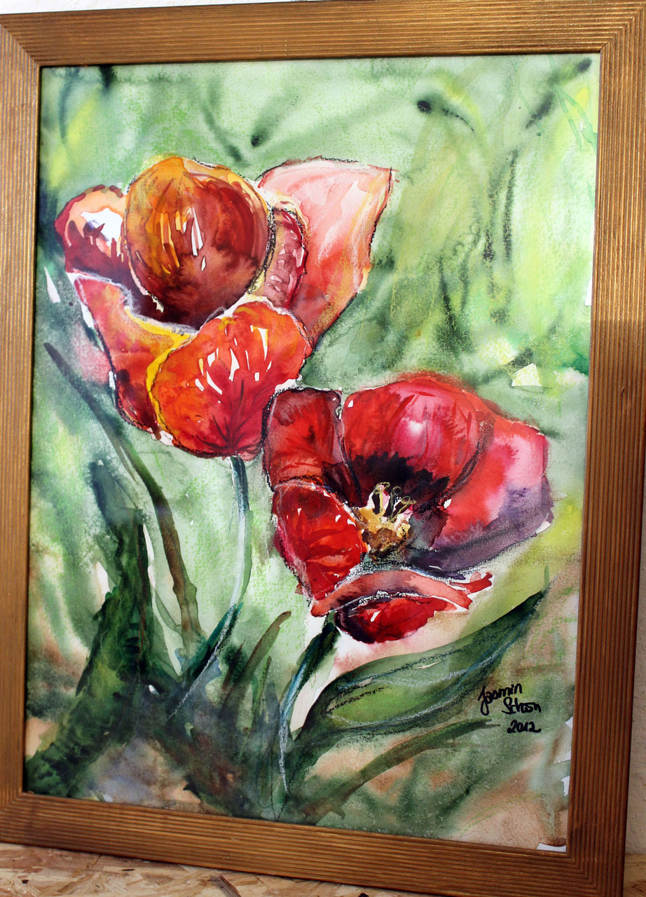 Tulpe, Aquarell