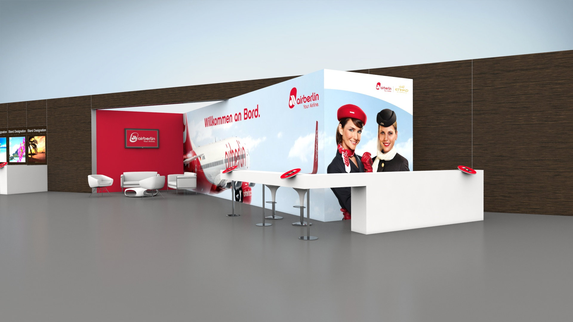 Airberlin Messestand 3D Planung