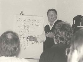 """1990, Francia, Bill al seminario """"Le Vostre Dinamiche negli anni '90"""""""