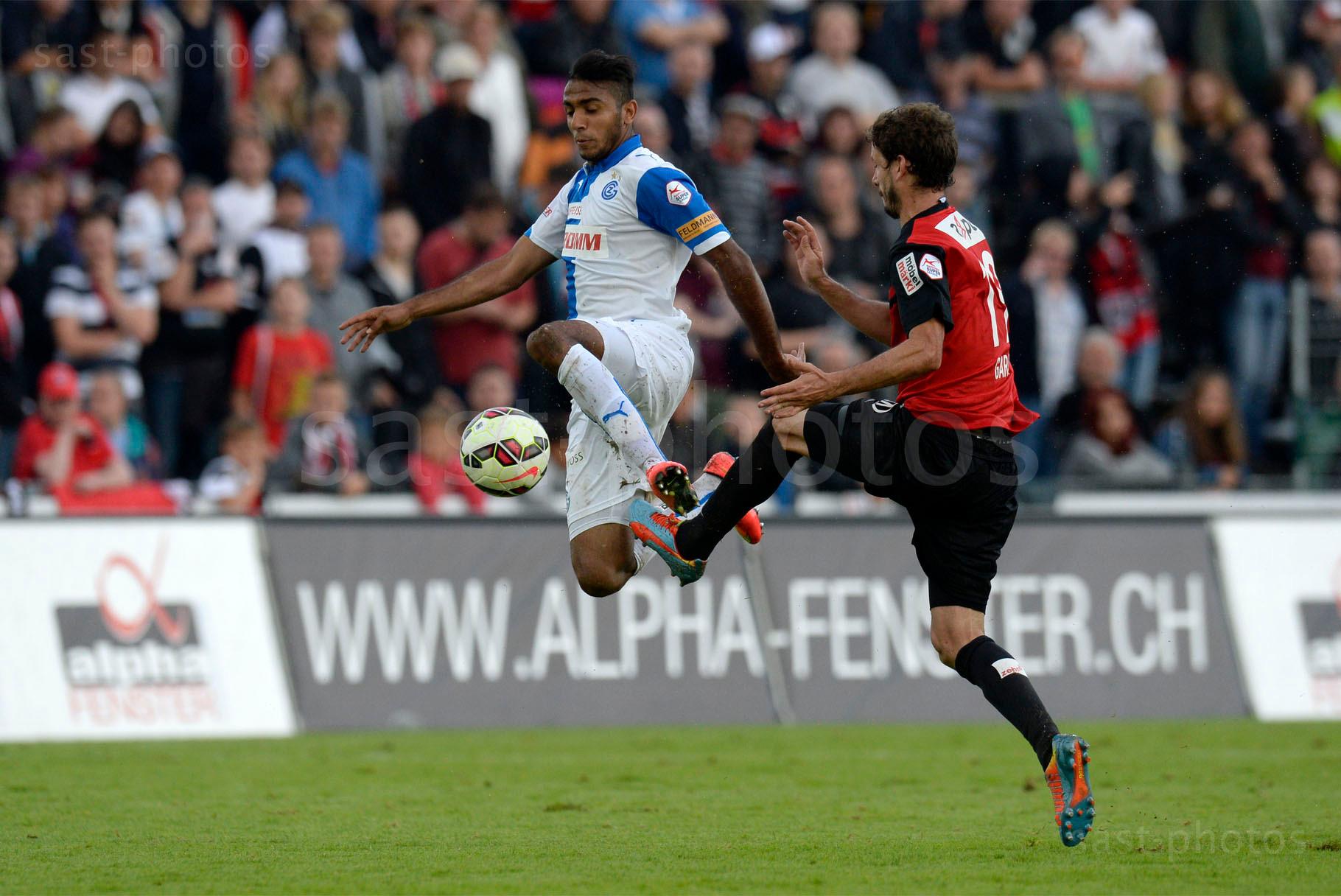 Mahmoud Kahraba (L. GCZ) gegen Juan Pablo Garat (Aarau)