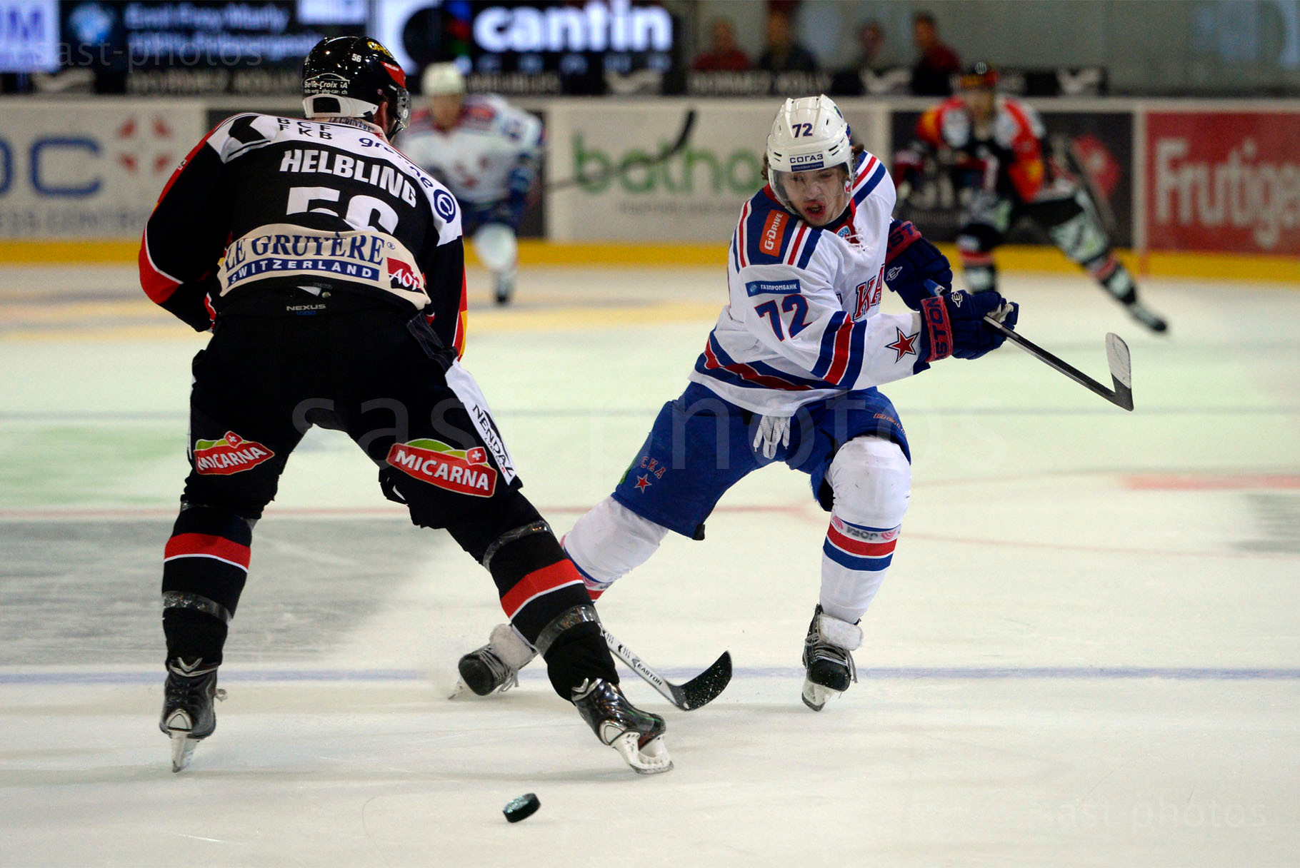Timo Helbling (L. Fribourg) gegen Artemy Panarin (St. Petersburg)