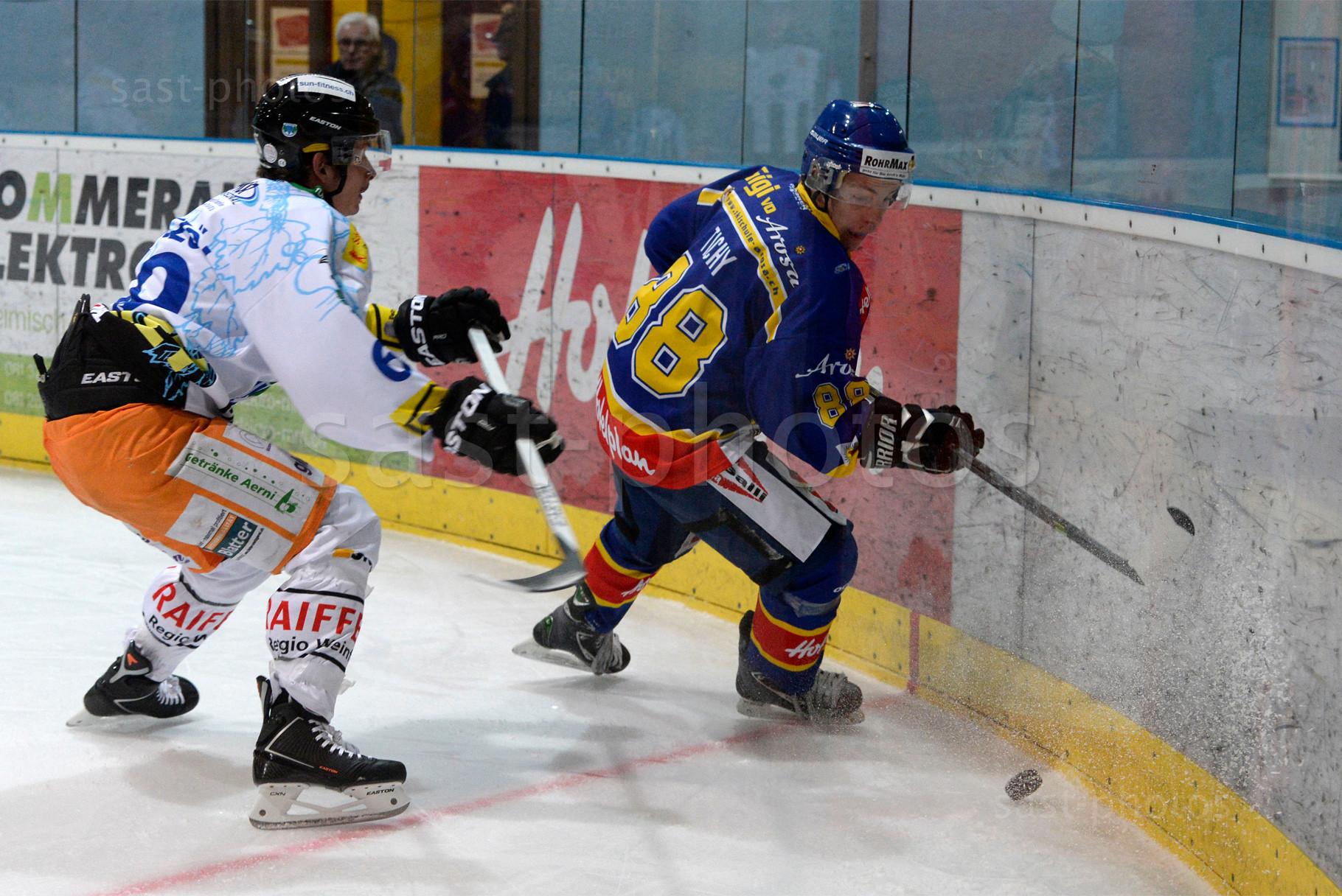 Yannik Koenczoel (L. Weinfelden) gegen Jan Tichy (Arosa)