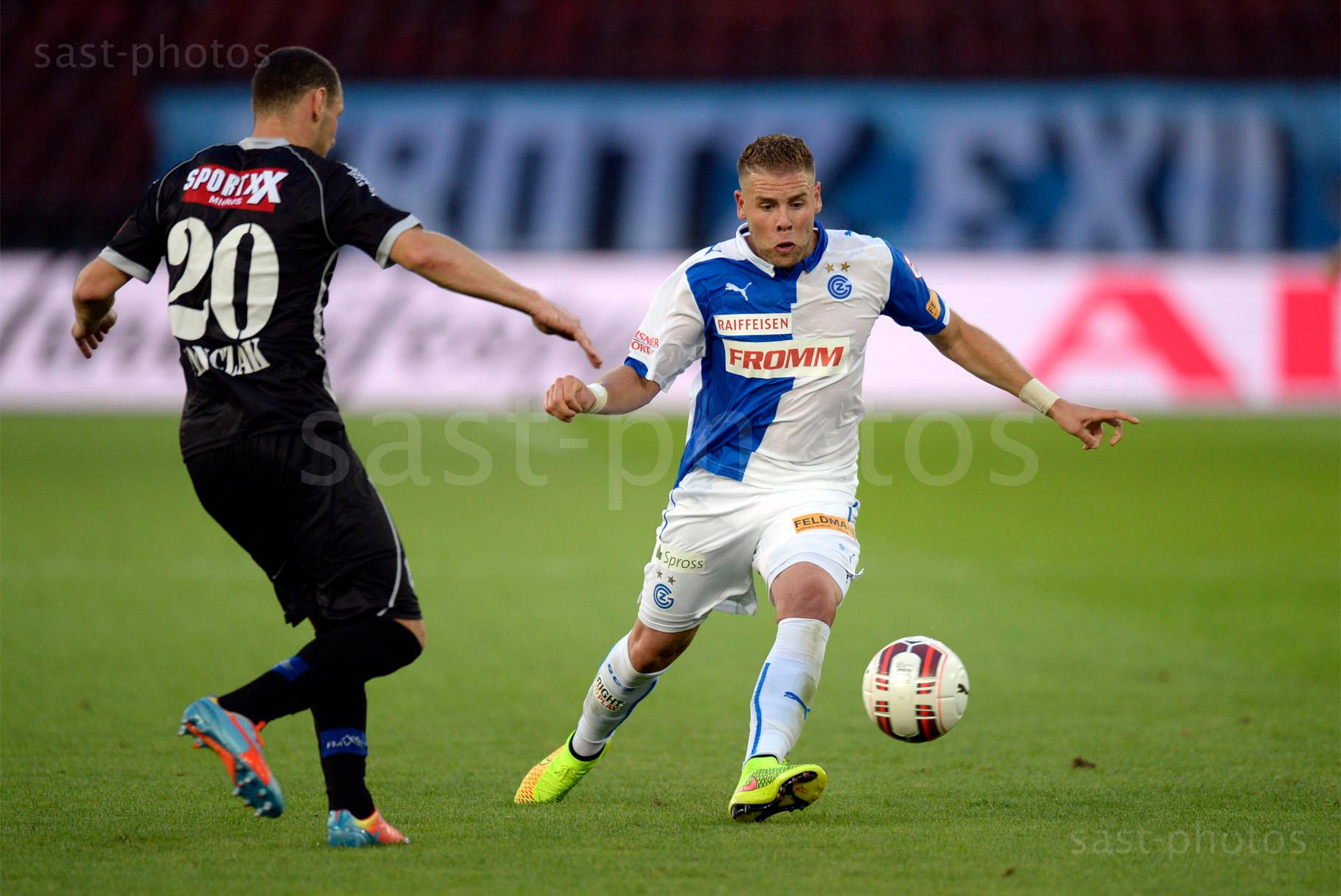 Vilmos Vanczak (L. Sion) gegen Yoric Ravet (GCZ)