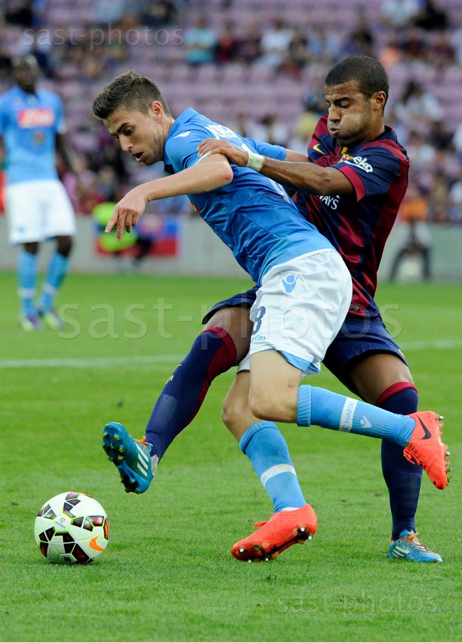 Jorge Luiz Frello Jorginho (L. Napoli) gegen Rafael Alcantara (Barcelona)