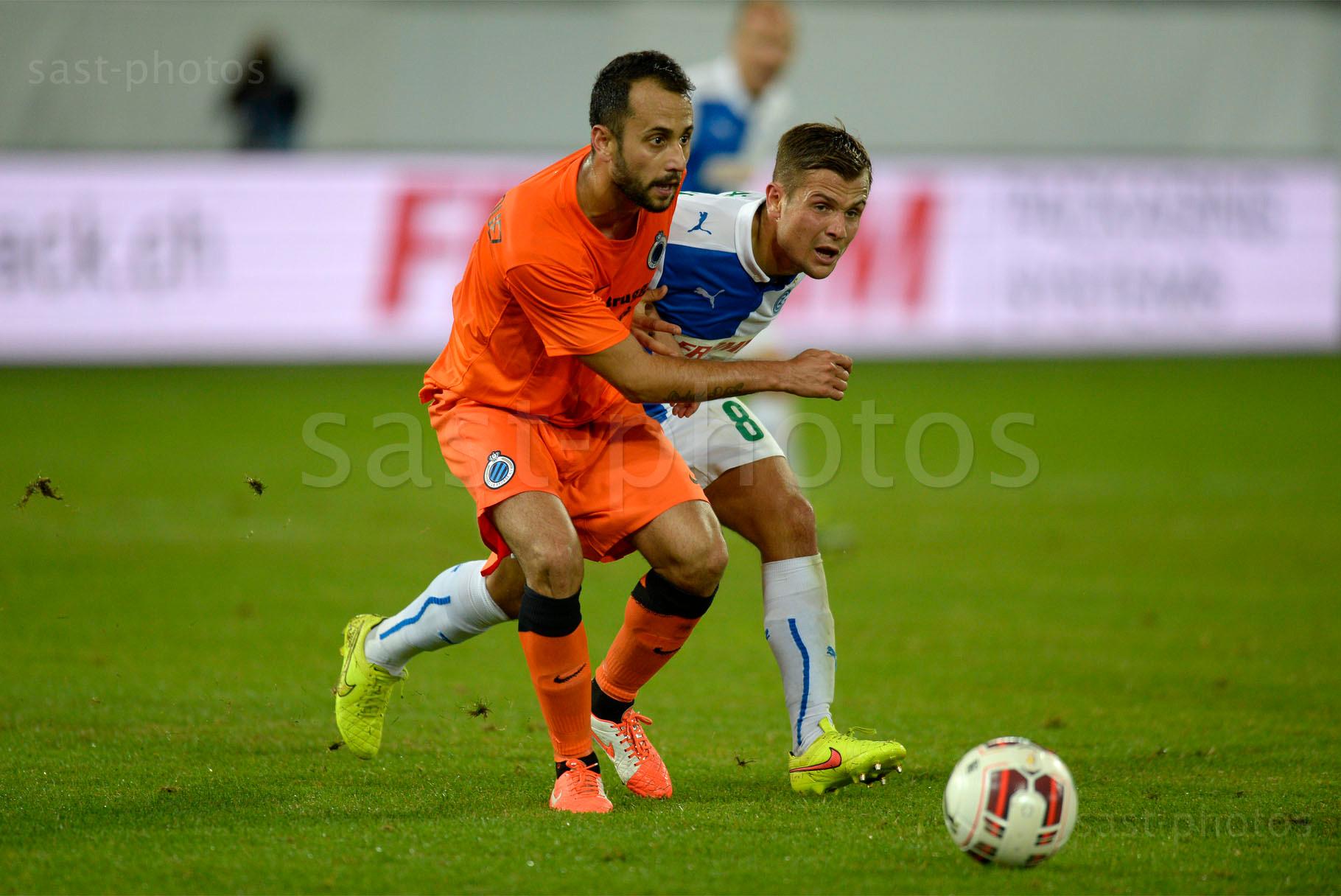Victor Vazquez (L. Brugge) gegen Amir Abrashi (GCZ)