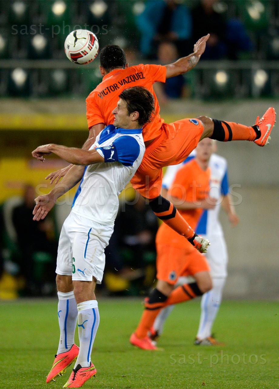 Veroljub Salatic (L. GCZ) gegen Victor Vazquez (Brugge)