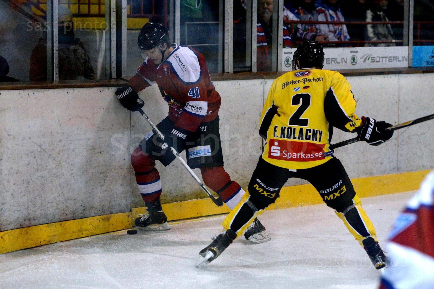Jannik Herm (L. Freiburg) gegen Florian Kolacny (Bad Toelz)