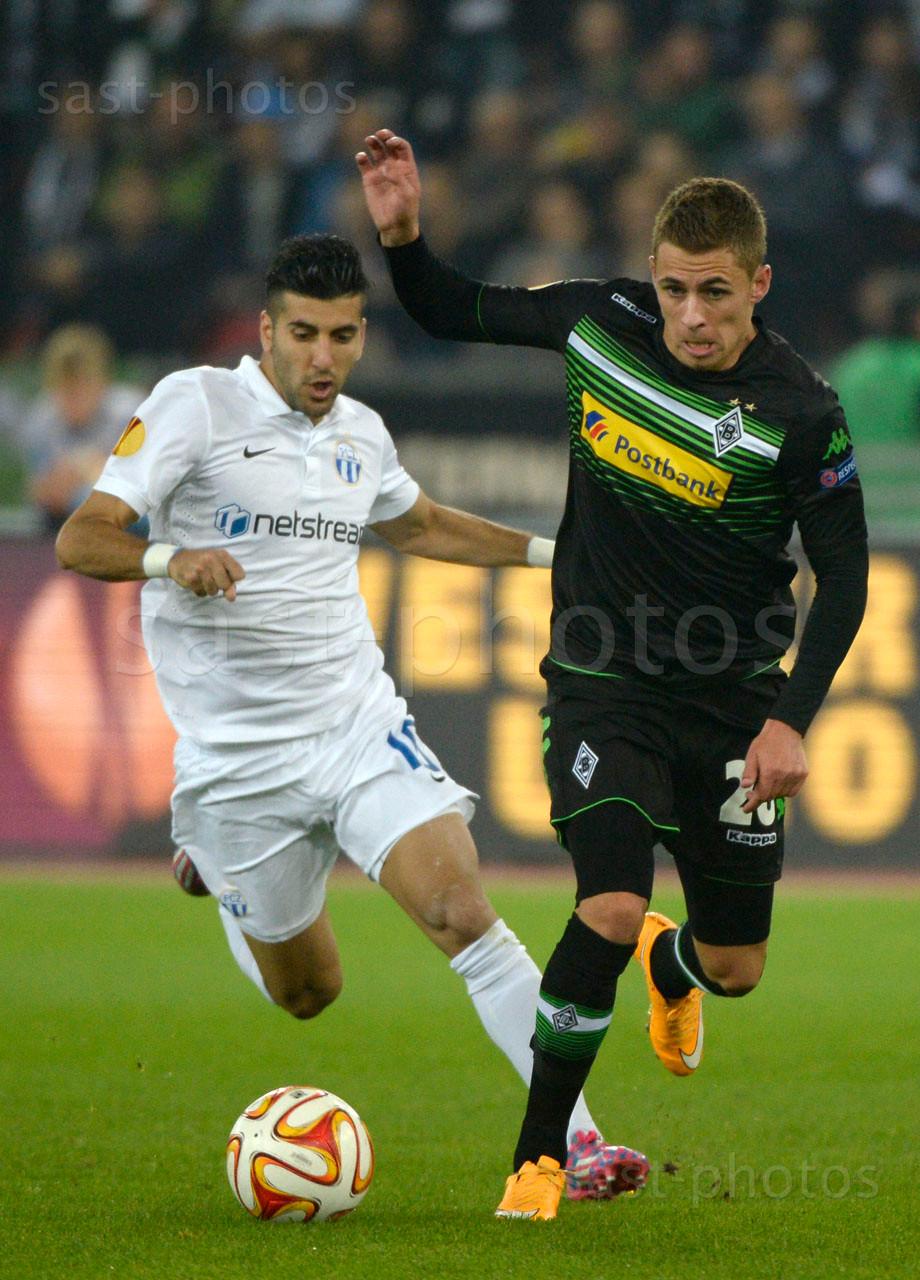 Avi Rikan (L. FCZ) gegen Thorgan Hazard (Gladbach)