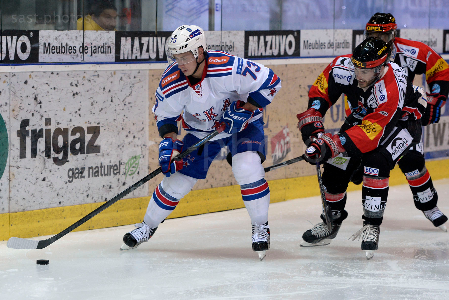 Maxim Chudinov (L. St. Petersburg) gegen Thibaut Monnet (Fribourg)