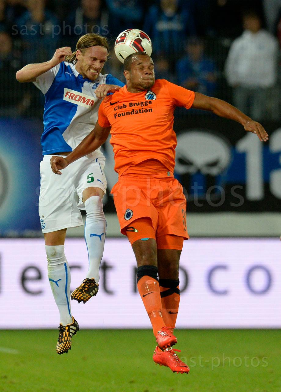 Michael Lang (L. GCZ) gegen Vadis Odjidja (Brugge)
