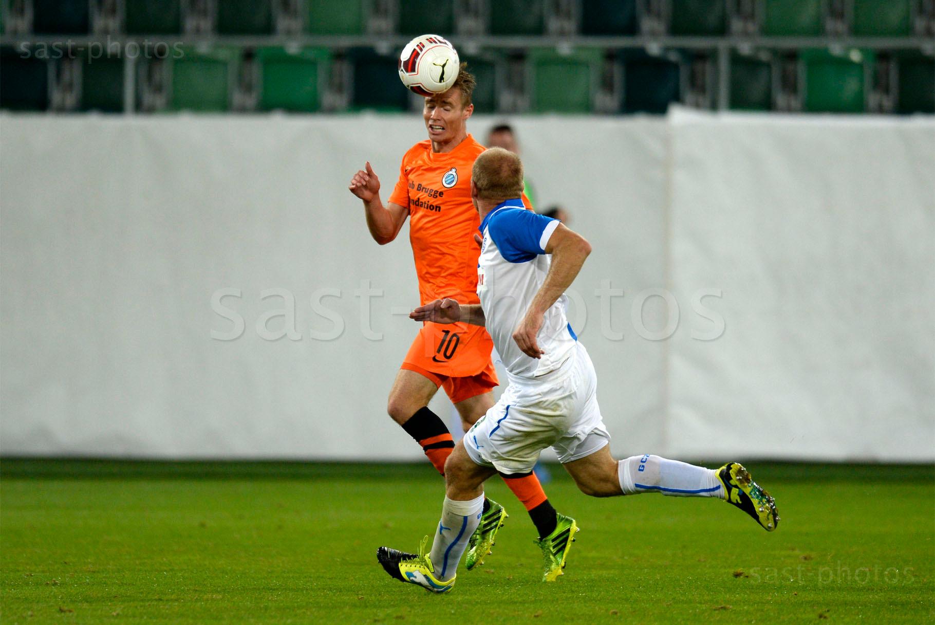 Jesper Jorgensen (L. Brugge) gegen Stephane Grichting (GCZ)