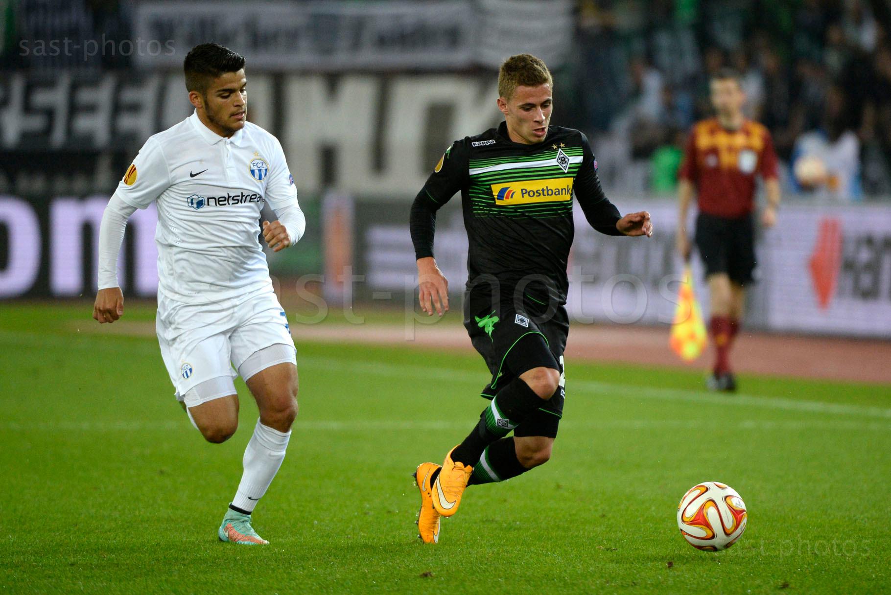 Francisco Rodriguez (L. FCZ) gegen Thorgan Hazard (Gladbach)