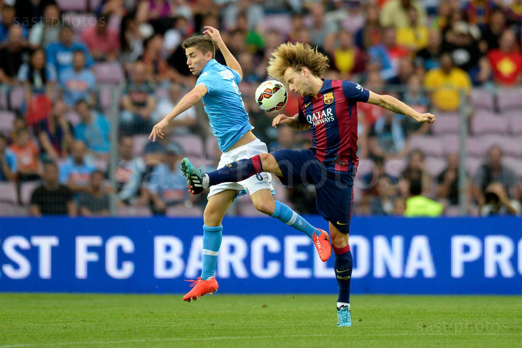 Jorge Luiz Frello Jorginho (L. Napoli) gegen Ivan Rakitic (Barcelona)