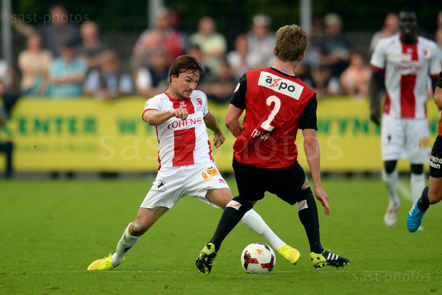 Michael Perrier (L. Sion) gegen Marco Thaler (Aarau)
