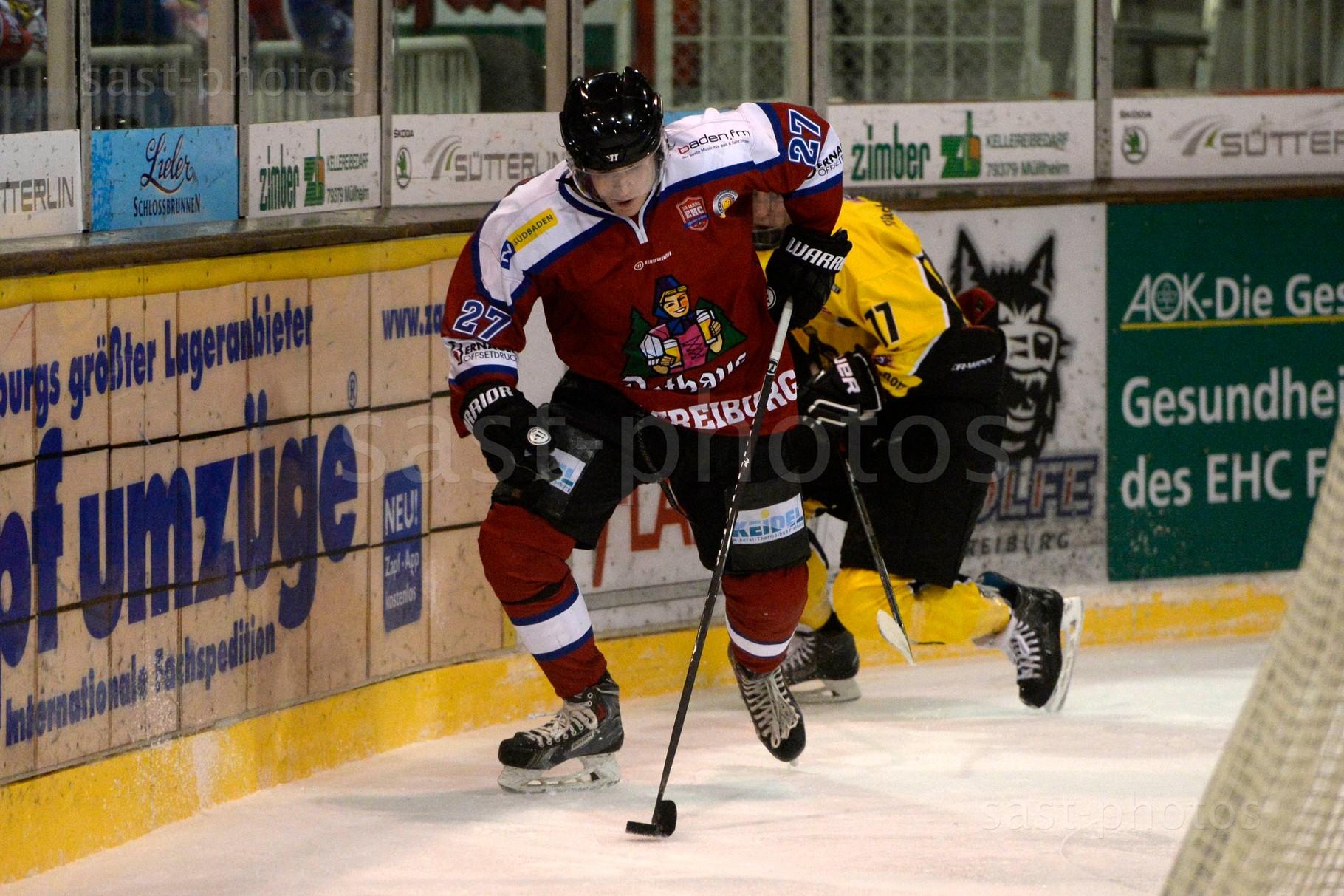 Jakub Wiecki (Freiburg) gegen Christian Kolacny (Bad Toelz)