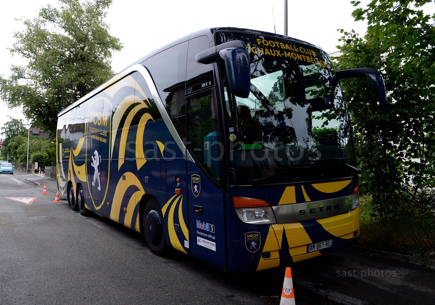 Mannschaftsbus von Sochaux