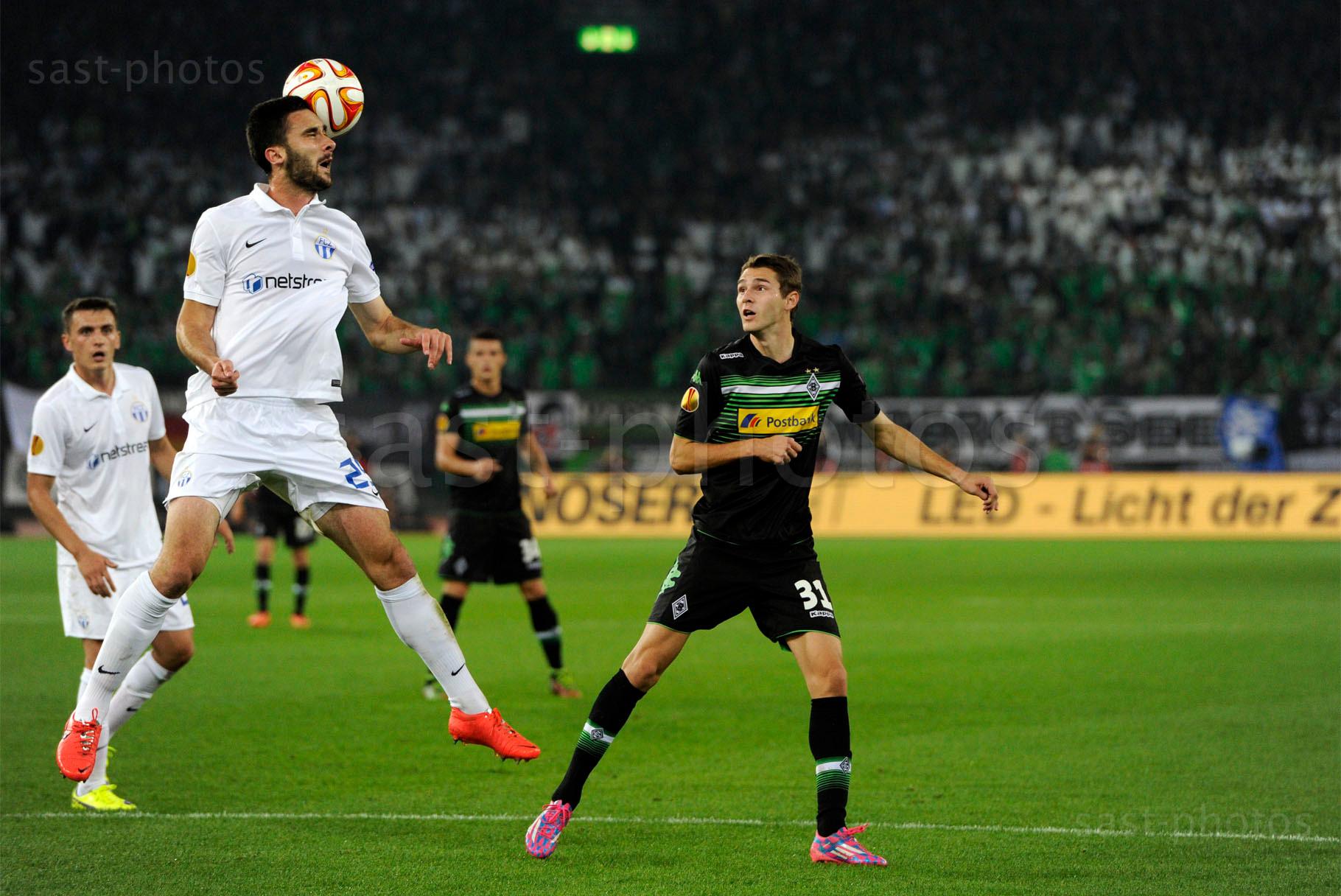 Ivan Kecojevic (L. FCZ) gegen Branimir Hrgota (Gladbach)