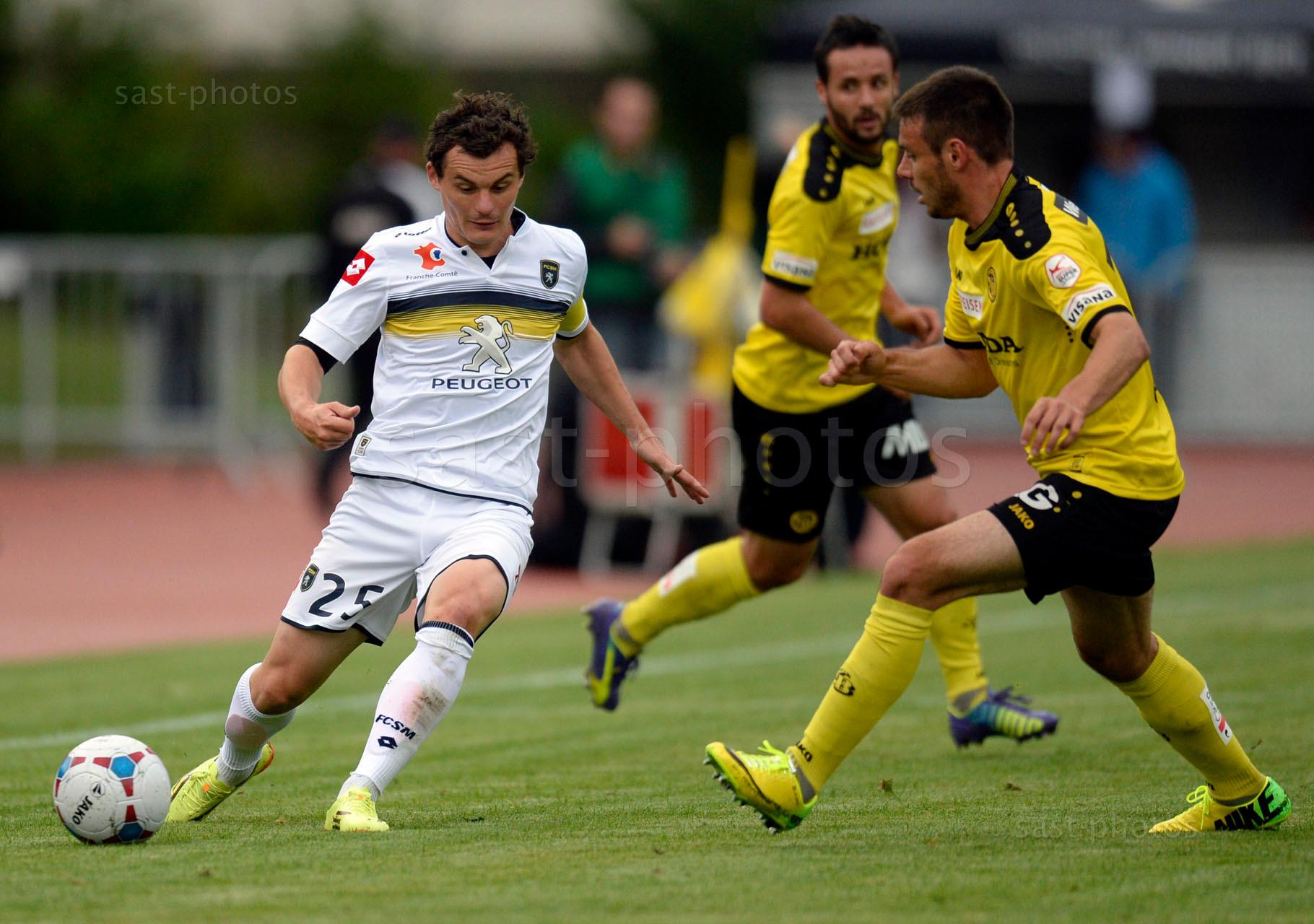 Julien Faussurier (Sochaux) gegen Milan Gajic (YB)