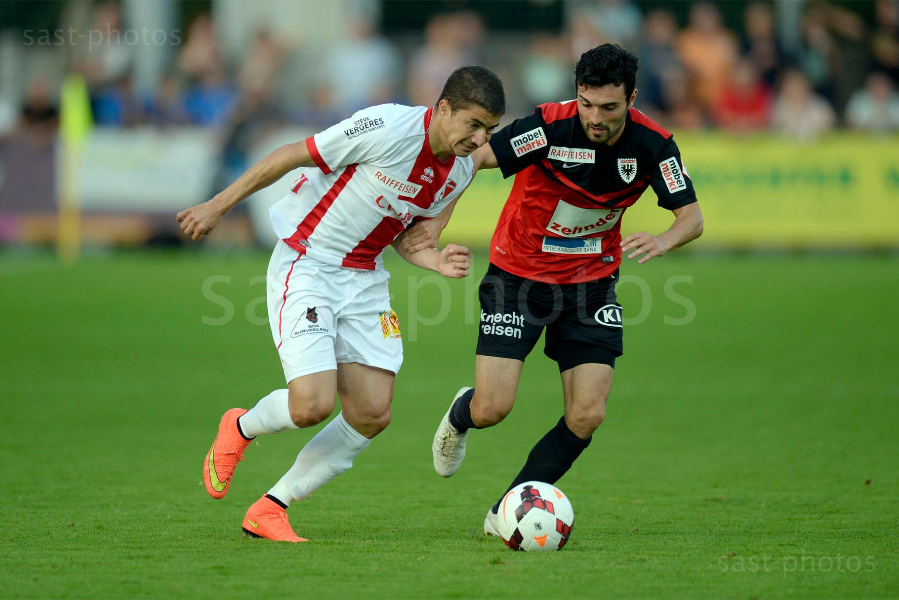 Demetris Christofi (L. Sion) gegen Luca Radice (Aarau)