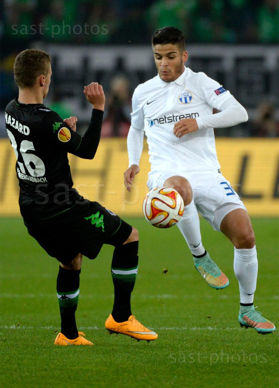 Thorgan Hazard (L. Gladbach) gegen Francisco Rodriguez (FCZ)